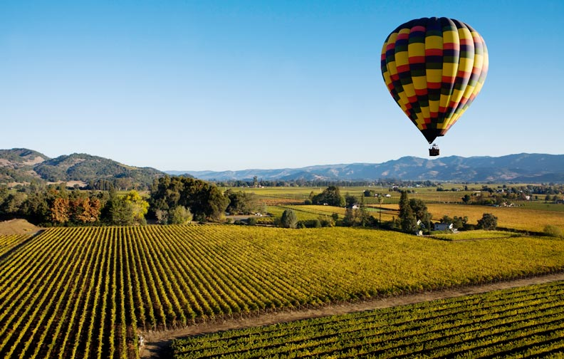 Sonoma Hot Air Balloon Wine Tour